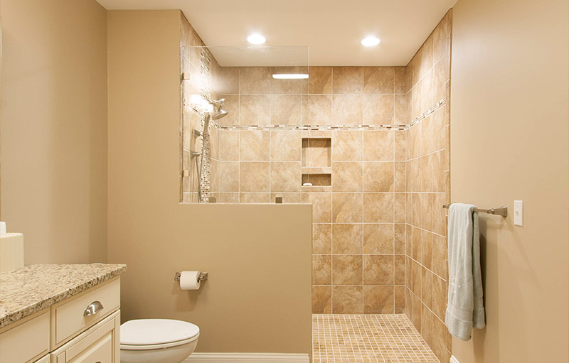 Walk-in shower with excellent accessibility